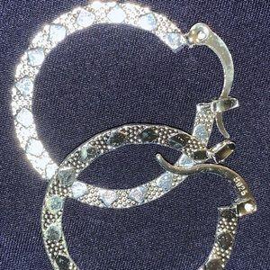925 sterling silver hoops